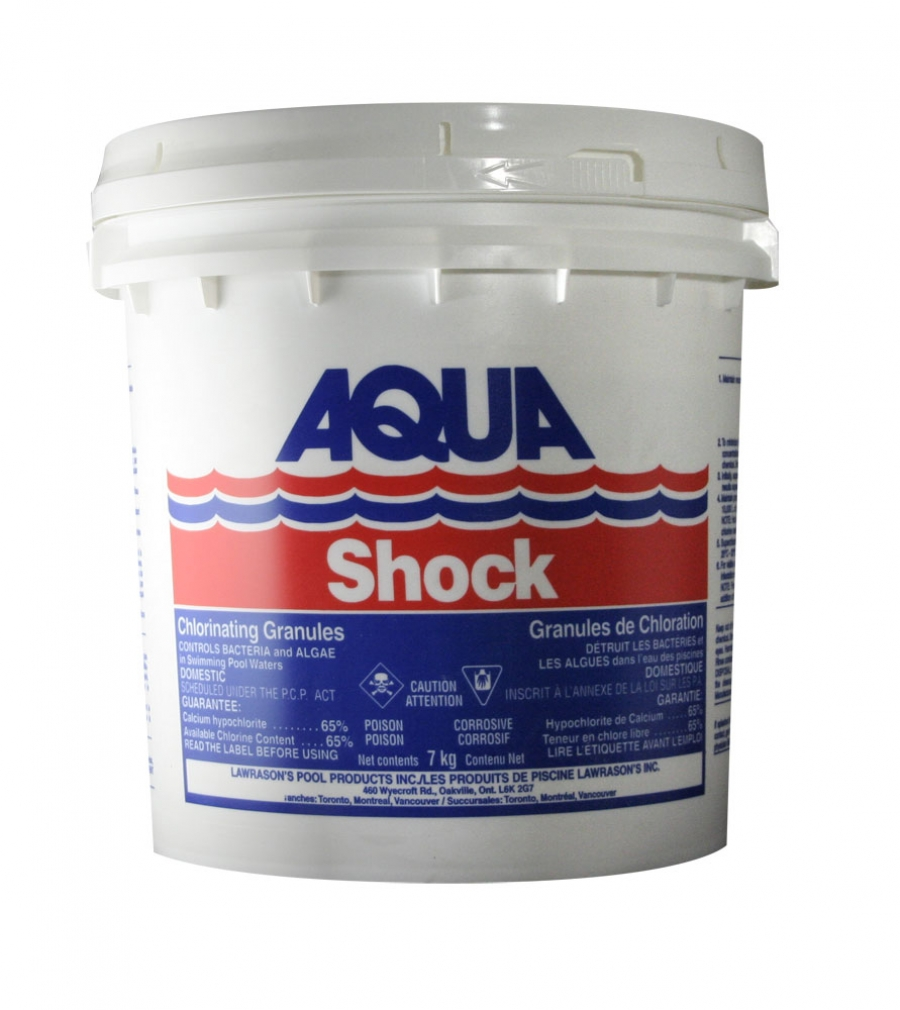 Lawrason 39 s inc pool and spa products aqua shock 7 kg for Pool products